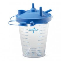 MedLine Disposable 850cc Suction Canister Kit with Float Lids