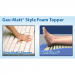 PressureGuard Easy Air Geo-Matt Foam Topper