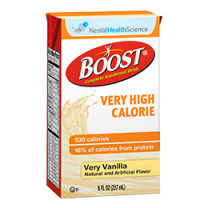 Nestly Health Science BOOST VHC - Very High Calorie 8 oz (287 mL), Very Vanilla Tetra Carton