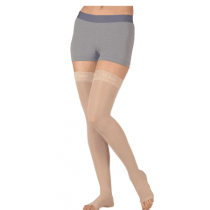 Juzo Basic 4411AG Thigh High Compression Stockings w/ Silicone Border 20-30 mmHg