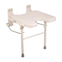 HealthSmart Wall Mount Fold Away Shower Seat Bench