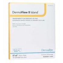 DermaView II Island Transparent Film Dressing with Pad