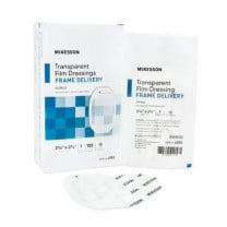 Mckesson Framed Transparent Film Dressing 2-3/8 x 2-3/4 Inch - Sterile