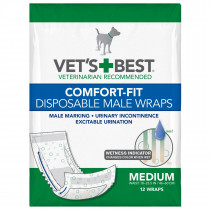 Comfort-Fit Disposable Male Dog Wrap