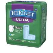 FitRight Ultra Adult Briefs with Tabs, Heavy Absorbency