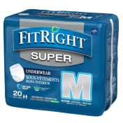Medline FitRight Super Protective Underwear - Maximum Absorbency