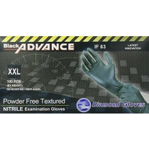 Black Advance IF-63 Nitrile Exam Gloves