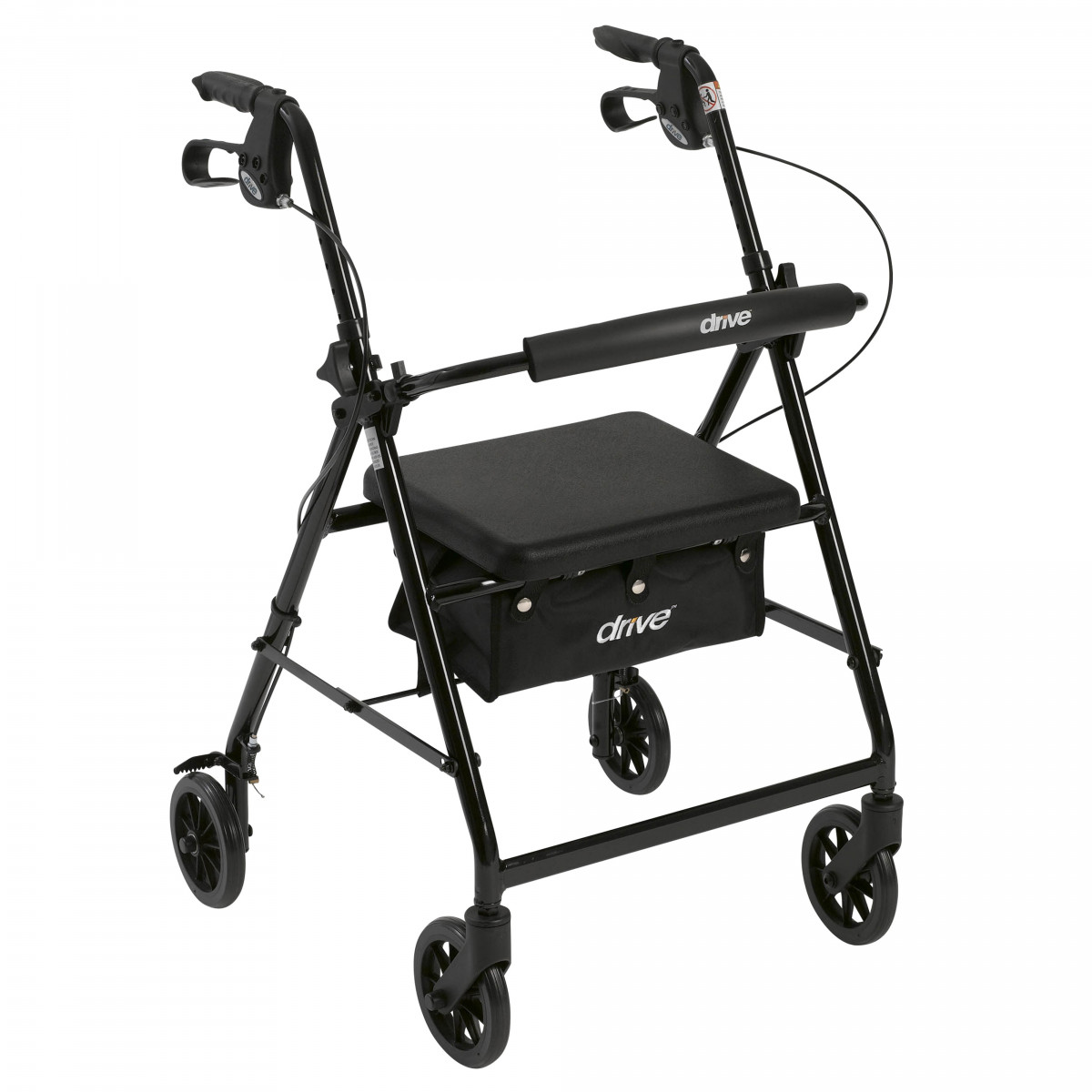 lightweight rollator with fold up and removable back support by drive 894