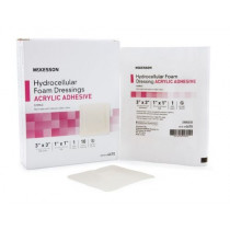 Mckesson Hydrocellular Adhesive Foam Dressing Acrylic Adhesive 3 x 3 Inch - Sterile
