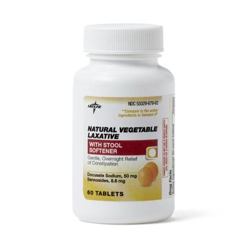 Medline Senna S Natural Vegetable Laxative Tablets W Stool