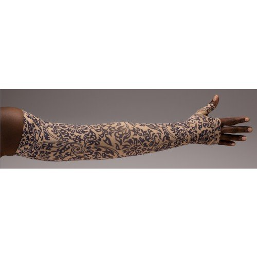 LympheDivas Damask Bei Chic Compression Arm Sleeve 30-40 mmHg w/ Diva Diamond Band