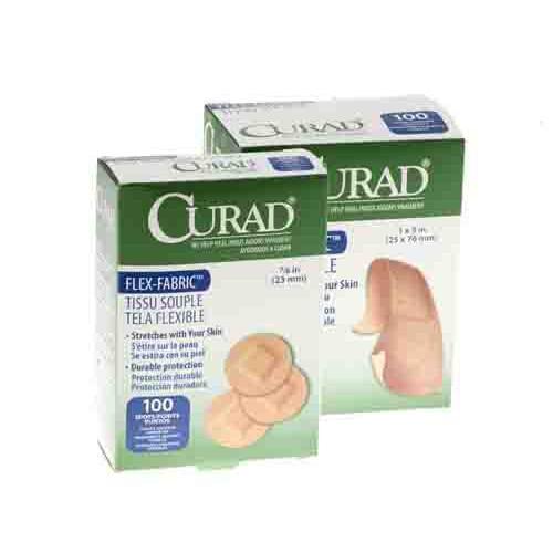 curad fabric adhesive bandages latex free sterile c62