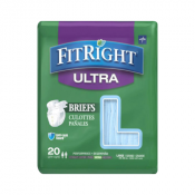 Medline FitRight Ultra Adult Briefs with Tabs, Heavy Absorbency