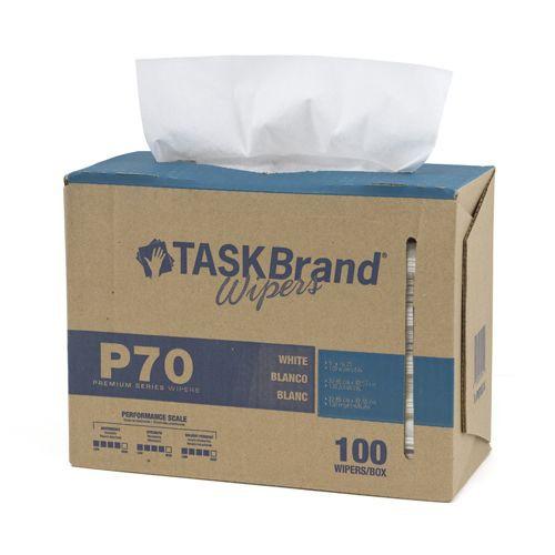 Taskbrand P70 Hd Hydrospun, Interfold, Dispenser, White Wipers