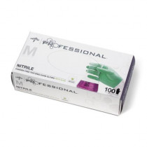 Medline Professional Nitrile Exam Gloves with Aloe, Box of 100