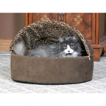K&H Thermo-Kitty Bed Deluxe Hooded