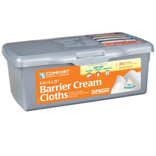 Comfort Shield Barrier Cream Cloths with Dimethicone