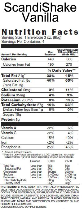 Scandishake Scandi Shake Buy High Calorie Shakes