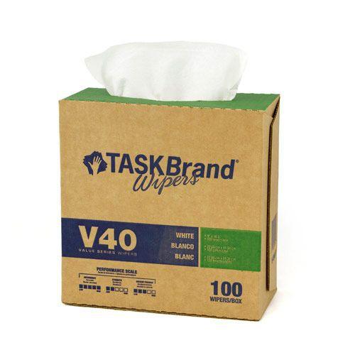 Taskbrand V40 Hw Drc, Interfold, Dispenser, White Wipers
