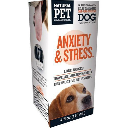 Homeopathic Natural Pet Dog Supplement - Anxiety and Stress