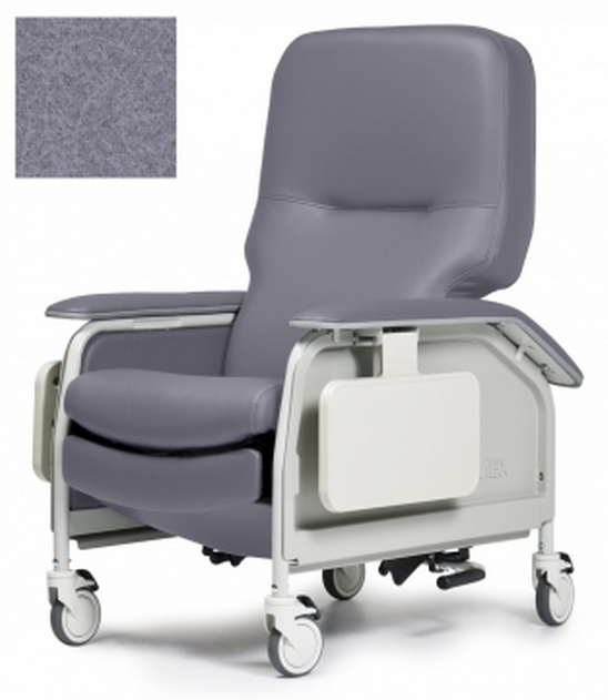 lumex deluxe clinical care geri chair recliner with tray 36d