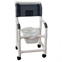 MJM PVC Shower Chair with Square Pail