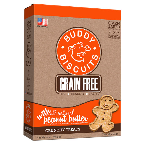 Grain Free Oven Baked Crunchy Dog Treats Peanut Butter