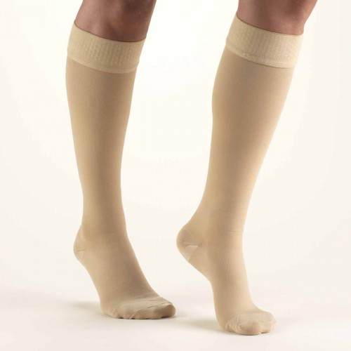 TRUFORM Classic Medical Knee High Silicone Dot Top CLOSED TOE 30-40 mmHg