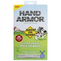 Bags on Board - Hand Armor Extra-Thick Dog Waste Pick-Up Bags