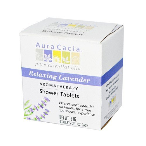 Aura Cacia Relaxing Lavender Aromatherapy Shower Tablets