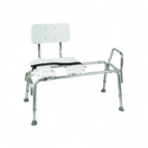 DMI Heavy-Duty Sliding Transfer Bench w/Cut-Out Seat