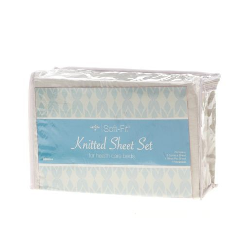 3-Piece Set of White Fitted Sheets, Twin