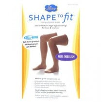Shape To Fit Unisex Anti-Embolism Thigh High Compression Stockings 18 mmHg