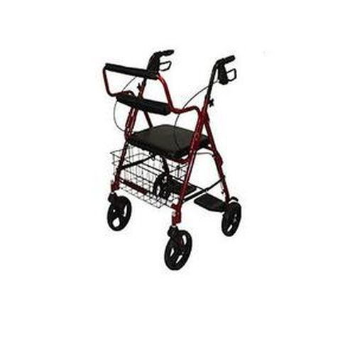 Transport Rollator with Padded Seat by Roscoe