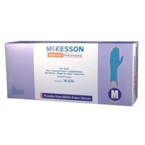 Medi-Pak Performance Nitrile Fully Textured Blue Exam Gloves Powder Free - NonSterile