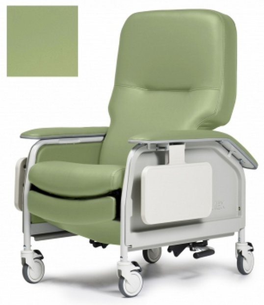 lumex deluxe clinical care geri chair recliner with tray 53d