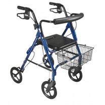 D-Lite Lightweight Rollator Walker with 8-Inch Wheels and Loop Brakes