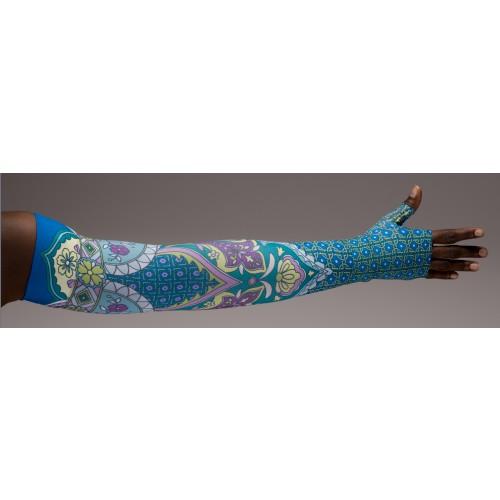LympheDivas Marakesh Compression Arm Sleeve 20-30 mmHg w/ Diva Diamond Band