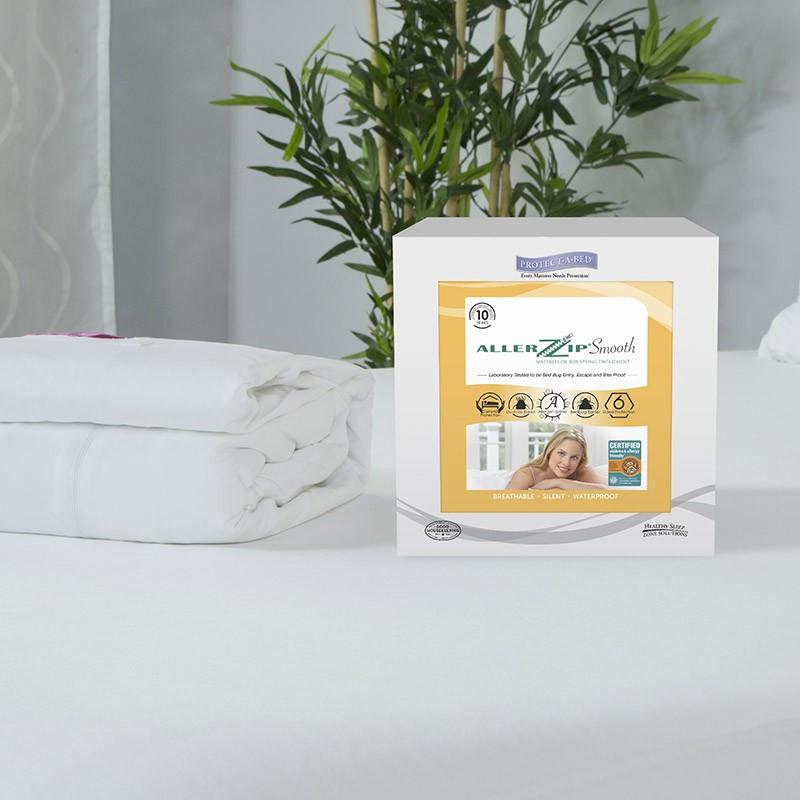 Protect-A-Bed AllerZip Smooth Mattress Encasement - Twin ...