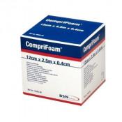 CompriFoam Bandage 7529500 | 12 cm x 2.5 m x 0.4 cm, White Foam by BSN