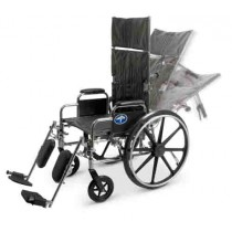 Reclining Wheelchair with Removable Desk-Length Arms
