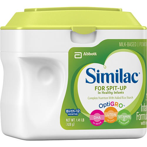 similac for spit up in healthy infants with iron and optigro 701