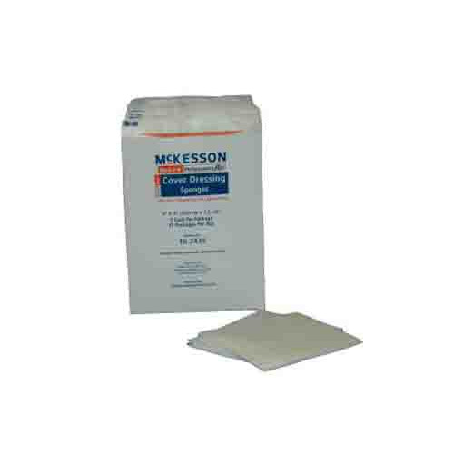 Mckesson 4 x 4 Inch Cover Dressing Sponges, Sterile - 16-2436