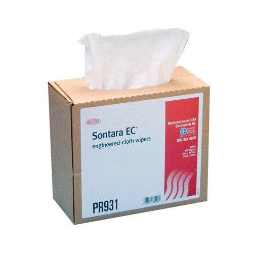 Sontara EC Wipers Creped White Interfolded in Dispenser Box
