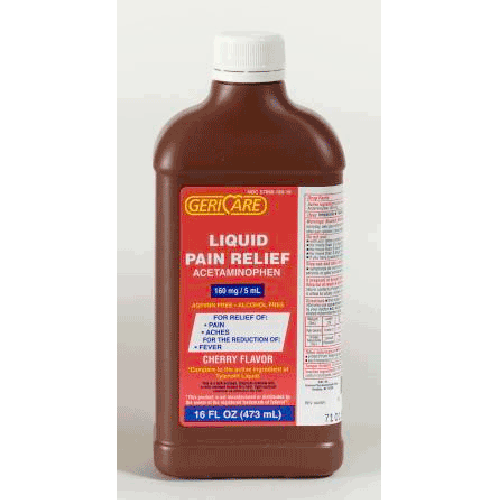 Mckesson GeriCare Liquid Pain Relief - 16 oz. Bottle