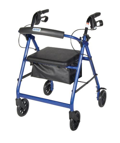 lightweight rollator with fold up and removable back support by drive eec