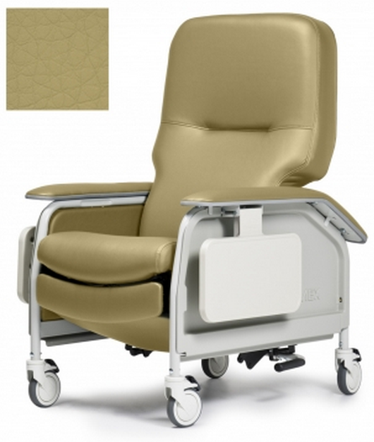 lumex deluxe clinical care geri chair recliner with tray eac