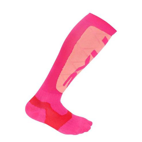 Elite Compression Alpine Socks, Hot Pink/Pink