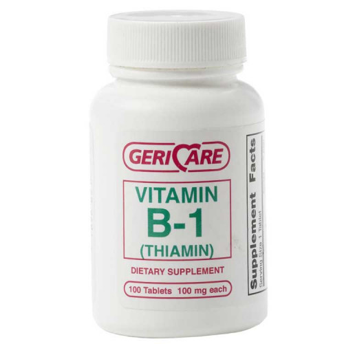 GeriCare Vitamin B1 Nutrition Supplement Tablets