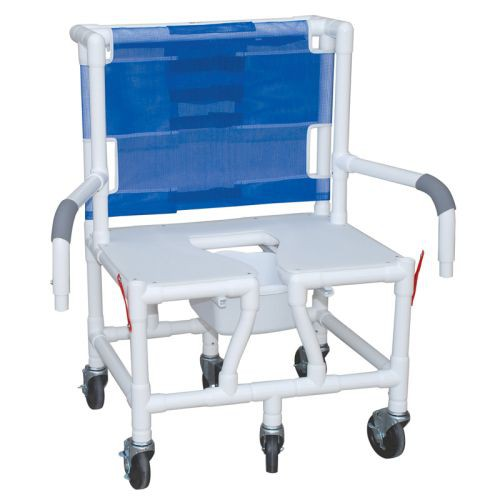 MJM PVC Bariatric Shower Chair with Dual Drop Arm